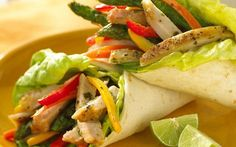 Oven-Grilled Pork and Veggie Wraps