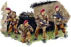 Pinturas II Guerra Mundial — 1944 Normandy 2nd SAS Regiment - Ron Volstad...