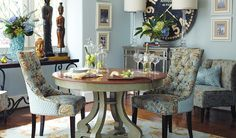 One way to do fusion: Glam, vintage and Asian influences. #diningroom