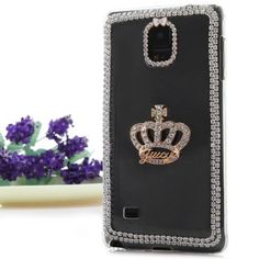 $4.04 (Buy here: http://appdeal.ru/amwc ) Transparent PC Material Crown Pattern Diamante Back Cover Case for Samsung Galaxy Note 4 N9100 for just $4.04
