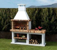 Outdoor bbq pit decoration brick grill online designs home decor ideas barbecue design how to build plans outdoor backyard bbq pit designs Design Barbecue, Design Grill, Pit Bbq, Built In Braai, Built In Grill, Parrilla Exterior, Brick Grill, Brick Built Bbq, Outdoor Oven