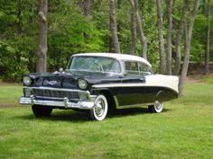`56 chevy belair....this is the car my husband had when we were dating. His had a red dome light in it :)))