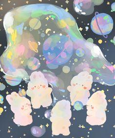 Cute Pastel Wallpaper, Soft Wallpaper, Bear Wallpaper, Cute Patterns Wallpaper, Kawaii Wallpaper, Kawaii Drawings, Cute Drawings, Pretty Art, Cute Art