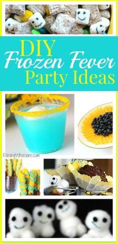 DIY Frozen Fever Party - food, decor, crafts, ideas and more! Frozen Birthday Party, Frozen Party, Birthday Parties, Birthday Ideas, 4th Birthday, Frozen Wedding, Disney Birthday, Birthday Crafts, Birthday Decorations