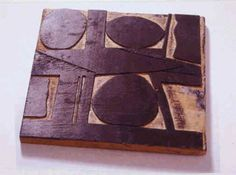 Woodblock for the Woodcut Three Ovals, ca. late 1960s-early 1970s