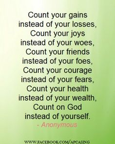 210 Best QUOTES-COUNT Your BLESSINGS images in 2019 ...