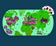 Crush | Casino Map Illustration Map Illustrations, Creative Photos, Globes, Travel Around The World, Maps, Crushes, Graphics, Facebook, How To Plan