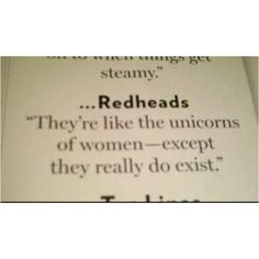 You know that's right!  (It should say NATURAL redheads though.)