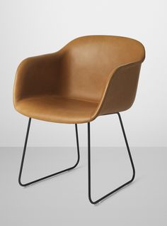 Fiber Chair with leather upholstery and sled base - image via www.muuto.com