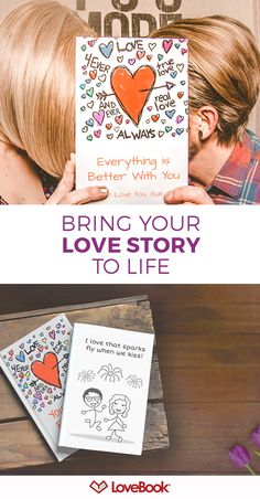 An adorable gift idea that lets you say exactly why you love them. Author your own personalized book of love reasons. Each pages lists a different reason and is illustrated with your characters. Guaranteed laughter and tears.