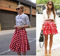 falda de cuadros rojos con blanco - Buscar con Google