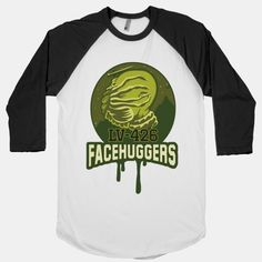 LV-426 Facehuggers Varsity Team SMOTHER THE COMPETITION! Be the scifi nerd you are and fit in with your own cliche with this mock varsity mascot logo for your favorite aliens college team around! Choke out the other teams with this new design. #mock #sports #varsity #college #alien #facehugger #nerd #dork #scifi