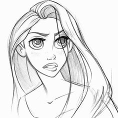 Gallery For gt Rapunzel Face Drawing