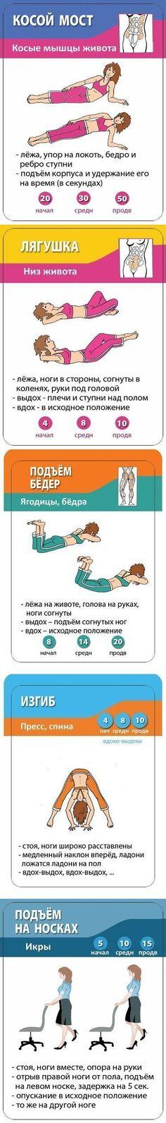 Лучшие упражнения для идеальной фигуры