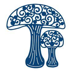 Tattered Lace - Dies - Toadstool (mushroom)