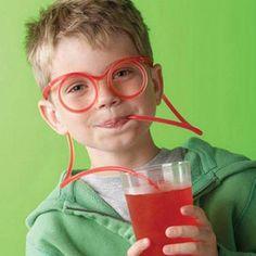 DIY Creative Funny Glasses Straw Children's  Cartoon Cute Fun Wacky Straw Toys Household I Items Drinkware Toy-0177