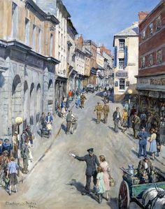 Stanhope Alexander Forbes (Irish artist) 1857 - 1947 Causewayhead, Penzance, 1943 oil on canvas 77 x 61 cm.