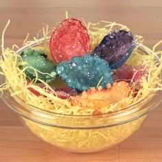"""Spangler Science shows us how to turn those eggs into beautiful crystal """"geodes!"""""""