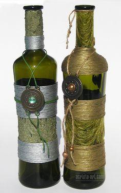 Acrista Art Decorated Bottles