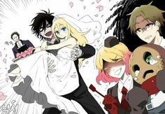 Satsuriku No Tenshi Anime Angel, Anime Demon, Manga Anime, Sonic Kawaii, Kawaii Anime, Angel Of Death, Anime Harem, Couple Manga, Comics Anime