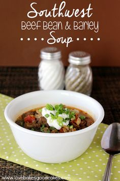 Southwest Beef Bean & Barley Soup