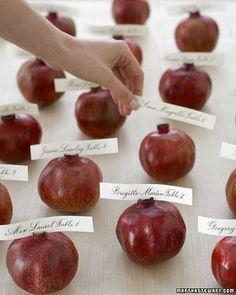 #Fall #Escort #Cards pomegranate  My Website //www.simplycoutureweddings.com