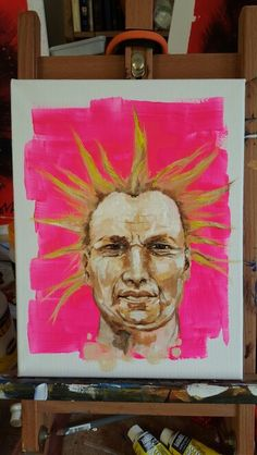 For my pop-up studio as Artist In Residence at @RebellionFest next week. Tribal Elder #art #punk