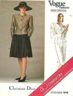 Vogue 1919 Paris Original Vintage Designer by studioGpatterns