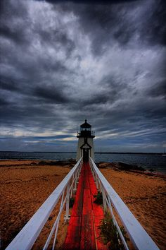 Brant Point lighthouse and bridge, Nantucket