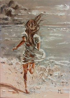 Monika Luniak - Paintings for Sale Oil Painting On Canvas, Canvas Art, Wal Art, Art Drawings Sketches, Paintings For Sale, Original Paintings, Aesthetic Art, Lovers Art, Female Art