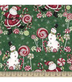 Holiday Inspirations Fabric- Susan Winget Santa