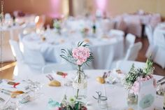 Nicolas and Lucile's fuss free traditional French wedding in North East France captured by Clement Photographie and bride wore Noce de Cristal French Wedding, Pretty Pastel, Wedding Table, Table Decorations, Traditional, Bride, Beautiful, Tables, Image