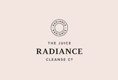 Serif and sans-serif logotype designed by Construct for juice brand Radiance.