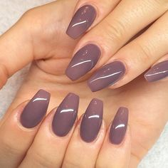 plum gray nails