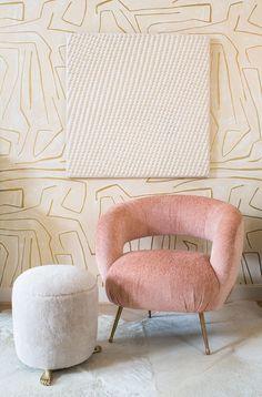 KELLY WEARSTLER | LAUREL LOUNGE CHAIR. Tight upholstered seat with cast brass legs http://www.kellywearstler.com/seating/laurel-lounge-chair/EJV+1532-33FM.html?dwvar_EJV%201532-33FM_color=BZ-10745&start=1