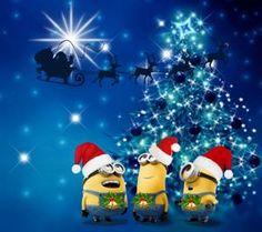 Minions Christmas Desktop Tablet Wallpaper