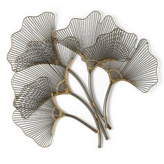 Ginkgo Leaves Metal Wall Art