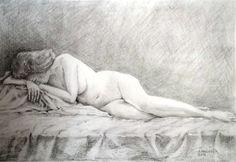 nude, pencil drawing, artist Peter Pavluvčík