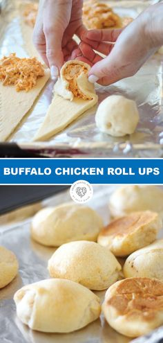Buffalo Chicken Roll Ups Try these delicious Buffalo chicken roll up appetizer with a crescent twist! These could be the ultimate appetizer for game day or your next party! A buffalo chicken appetizer with a crescent twist! Buffalo Chicken Roll Up, Chicken Roll Ups, Buffalo Chicken Recipes, Best Appetizer Recipes, Yummy Appetizers, Easy To Make Appetizers, Easy Snacks, Easy Appetizers For Party, Superbowl Party Food Ideas