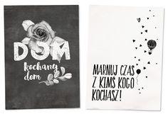 My Pink Plum!: Czarno-białe grafiki motywacyjne po polsku — mega paczka 7 plakatów!