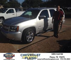 #HappyAnniversary to Keven Benkowitz on your 2013 #Chevrolet #Tahoe from Everyone at Huffines Chevrolet Plano!