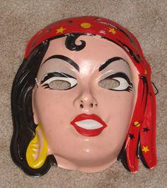 Gypsy 1950's Halloween Mask