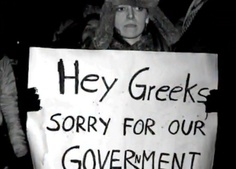 """streetartathens: """" """"Hey Greeks, sorry for our government"""" - German citizens at Berlin Occupy """" Berlin, Ancient Names, Tell The Truth, Greece, Thoughts, Sayings, Reading, World, Books"""