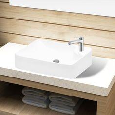 Vasque à trou pour robinet céramique Blanc pour salle de bain - 141934 - Plomberie sanitaire chauffage