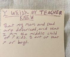 """A teacher's insights from asking students to finish the sentence, """"I wish my…"""