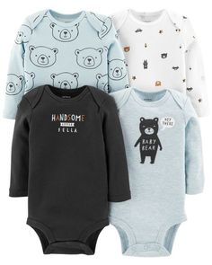 1d8c6f159 Baby Boy 4-Pack Long-Sleeve Original Bodysuits from Carters.com. Shop