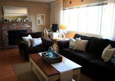 Comfortable Living Room Furniture Design Ideas | Simple living room with black furniture design