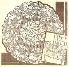 filet crochet tablecloth patterns free – Knitting Tips Filet Crochet, Crochet Patterns Filet, Crochet Tablecloth Pattern, Crochet Round, Thread Crochet, Crochet Doilies, Double Crochet, Easy Crochet, Flower Chart