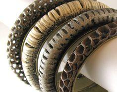 Polymer clay openwork bracelets, tutorial on Etsy.