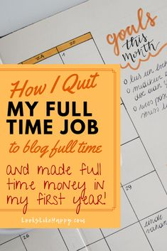 How I Quit My Full Time Job to Blog Full Time and Made Full Time Money In My First Year - All it takes is DRIVE! #blog #blogger Make Easy Money, Make Money Online, Make Blog, How To Start A Blog, Online Work From Home, I Quit, Best Blogs, Be Your Own Boss, Money Fast
